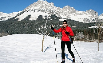 Cross-country skiing in Söll
